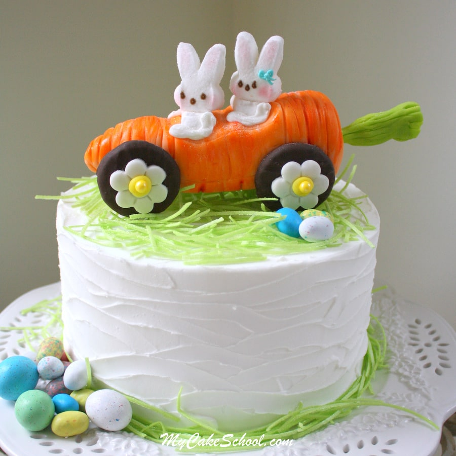 """Rolling with My Peeps!"" Cake topper tutorial by MyCakeSchool.com"
