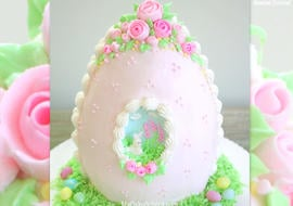 Sugar Egg Cake Video Tutorial by MyCakeSchool.com! The perfect cake for Easter!
