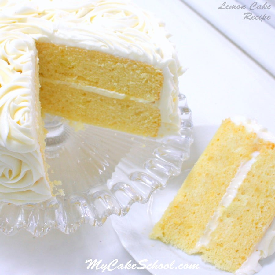Lemon Cake {A Scratch Recipe} | My Cake School