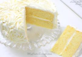 Delicious Scratch Lemon Cake Recipe by MyCakeSchool.com