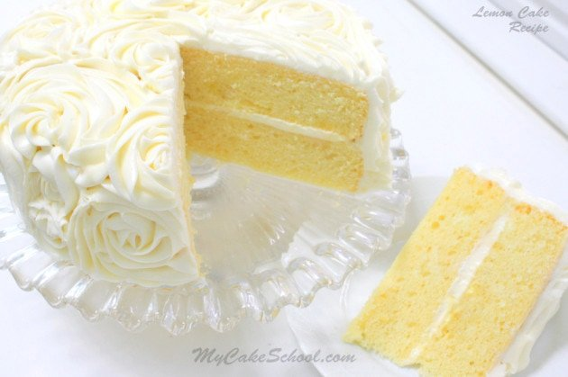 Lemon Cake A Scratch Recipe My Cake School