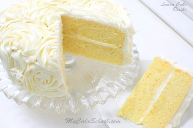 This amazingly moist and delicious scratch lemon cake belongs in your recipe box! Delicious! MyCakeSchool.com