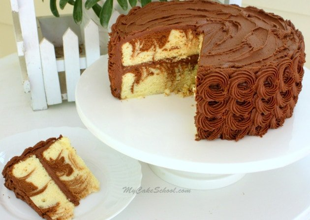 Yum! Delicious Homemade Marble Cake Recipe from Scratch by My Cake School!