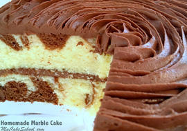 Scratch Marble Cake Recipe by My Cake School. Moist and Delicious!