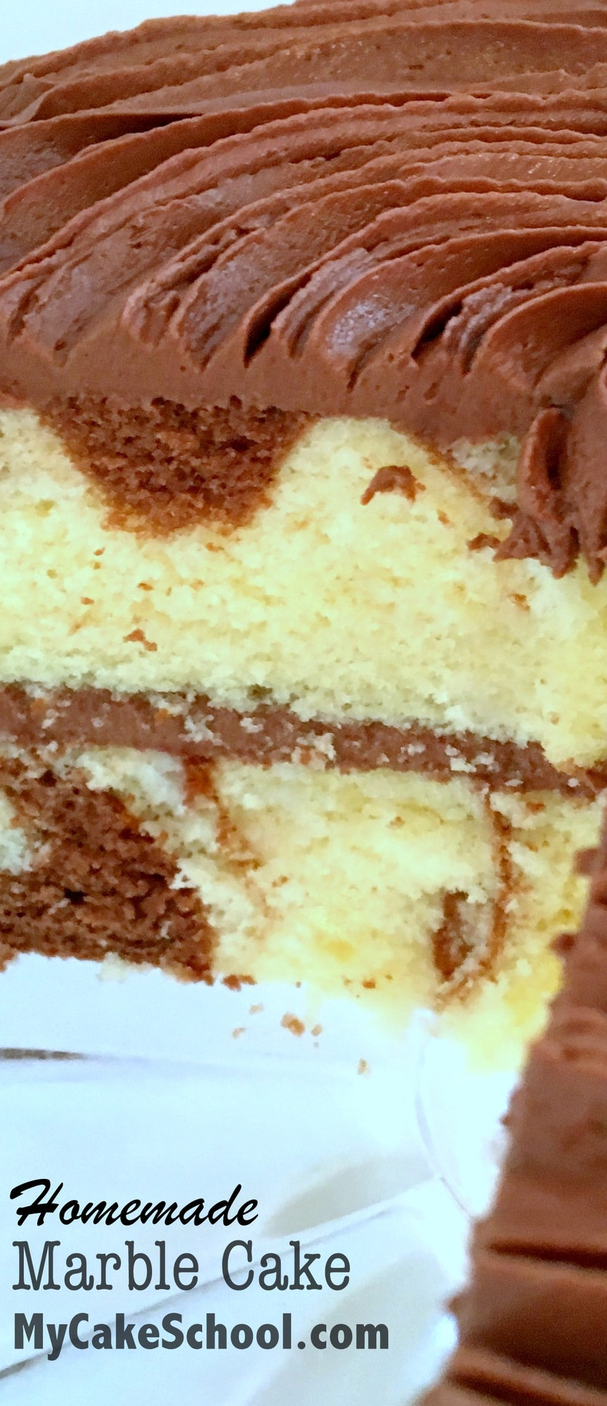 Moist And Delicious Marble Cake From Scratch!