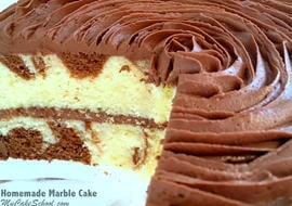 The most DELICIOUS Marble Cake Recipe from Scratch! Moist and flavorful recipe by MyCakeSchool.com. Online cake tutorials, recipes, cake videos, and more!