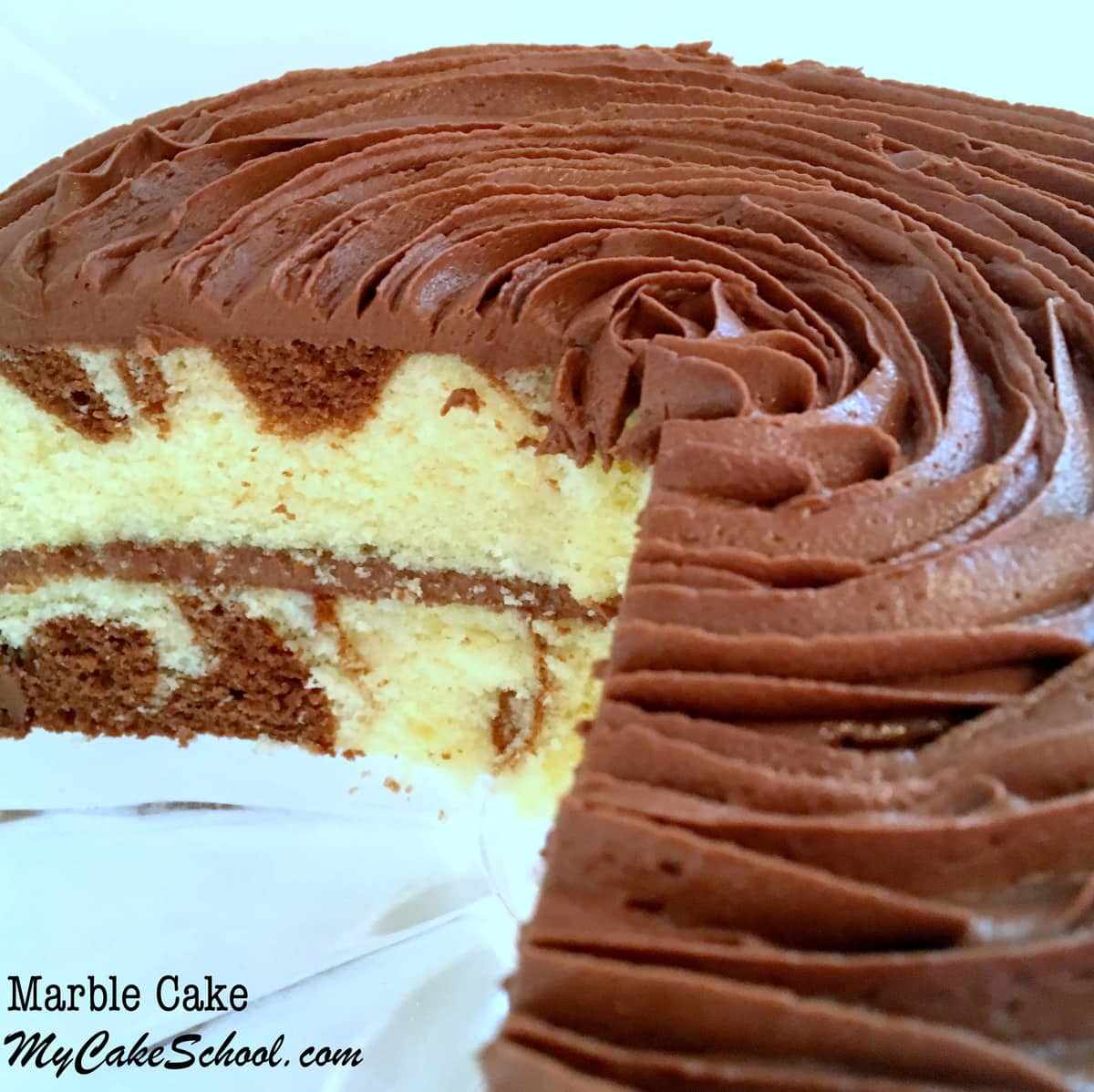 Homemade Marble Cake Recipe