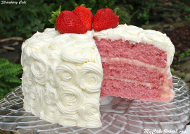 Delicious Homemade Strawberry Cake Recipe! Super Moist and Flavorful! My Cake School.