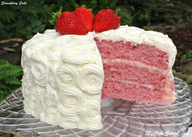 Strawberry Cake -Version #2 {A Scratch Recipe}