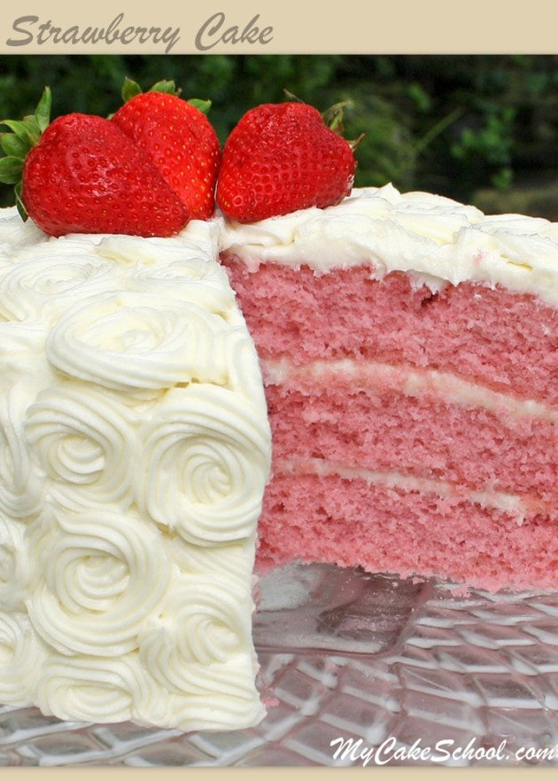 Amazing Strawberry Cake Recipe from Scratch by MyCakeSchool.com!