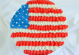 Ruffled Buttercream Flag Cake Tutorial