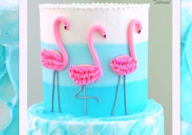 CUTE Flamingo Cake Tutorial with Ombre Buttercream! MyCakeSchool.com Online Cake Tutorials and Recipes!