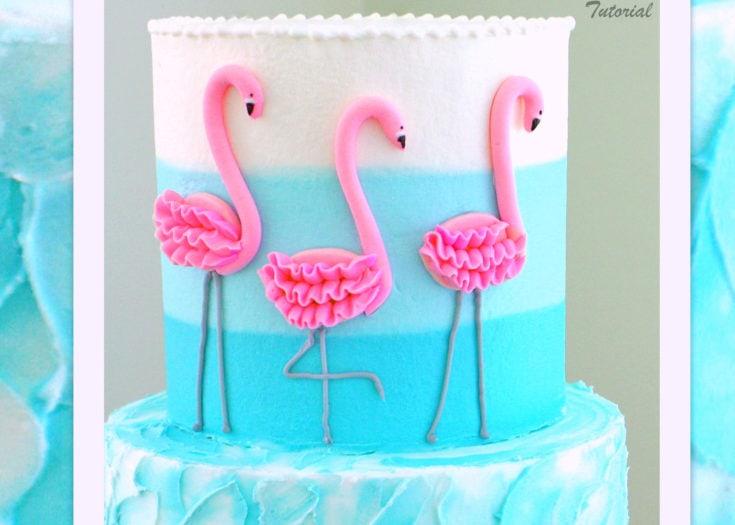 Flamingo Cake- A Cake Video Tutorial