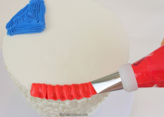 July 4th Cake Tutorial by MyCakeSchool.com!