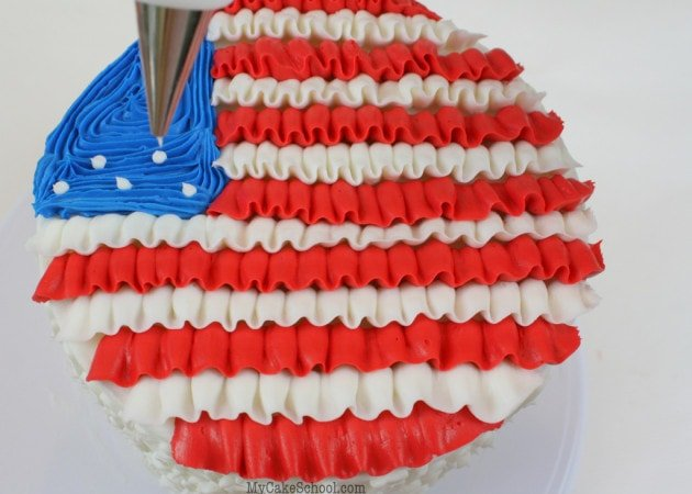 July 4th Cake Tutorial by MyCakeSchool.com!