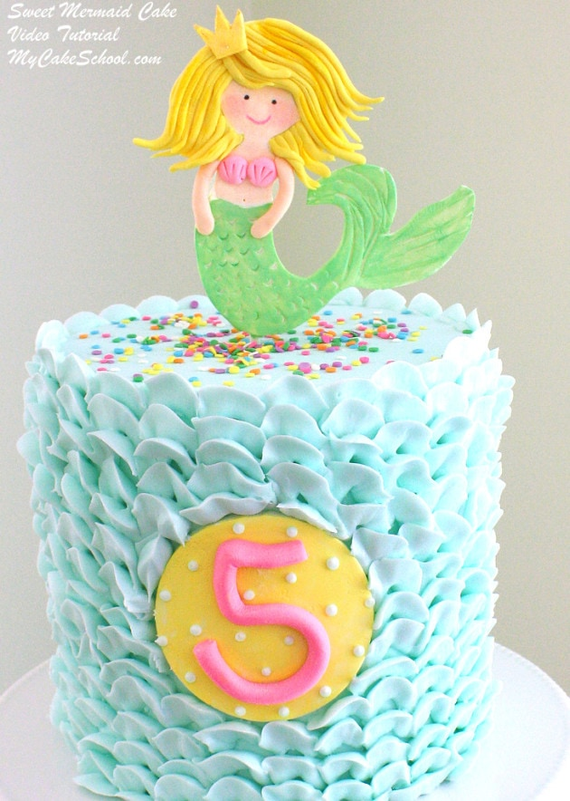 Sweet Mermaid Cake Tutorial by MyCakeSchool.com! (From My Cake School's Member Video Section!)