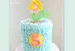 Sweet Mermaid Cake  with buttercream waves!  Video  Tutorial by MyCakeSchool.com