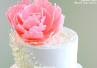 Elegant Chocolate Peony- Video Tutorial Library-MyCakeSchool.com