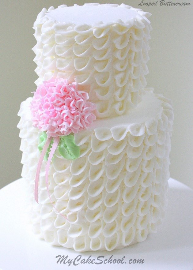 Looped Ribbons Of Buttercream With Hydrangea Video My