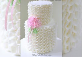 Looped Ribbons of Buttercream!  Video Tutorial by MyCakeSchool.com