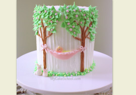 Sweet Baby in Hammock- Cake Decorating Video Tutorial by MyCakeSchool.com