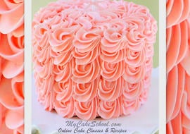 Free Video Tutorial for Gorgeous Cascading Rosettes of Buttercream! Learn this beautiful and surprisingly simple technique in MyCakeSchool.com's free tutorial!