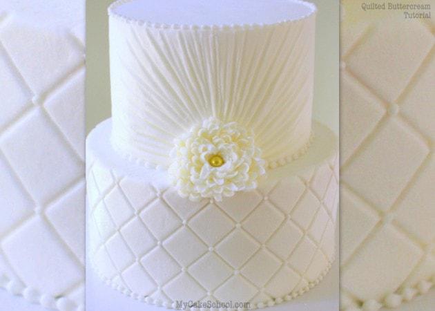 Decorating Cake Pops With Buttercream : Elegant Buttercream Ruching- A Cake Decorating Video ...