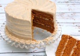 Amazingly moist and delicious scratch Gingerbread Cake with Spiced Cream Cheese Frosting! Recipe by MyCakeSchool.com!
