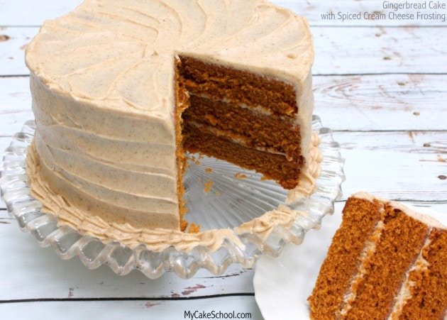 Gingerbread Cake {Scratch} with Spiced Cream Cheese Frosting