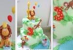 Learn to make an adorable jungle cake! Member Cake Video Tutorial on MyCakeSchool.com!