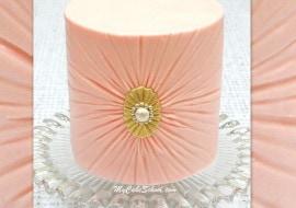 Elegant Ruched Buttercream Tutorial by MyCakeSchool.com