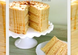 Delicious scratch Caramel Cake Recipe with Caramel Frosting! MyCakeSchool.com Online Cake Tutorials, Videos, and Recipes!
