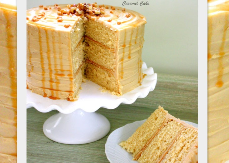 Caramel Cake with Caramel Frosting {A Scratch Recipe}