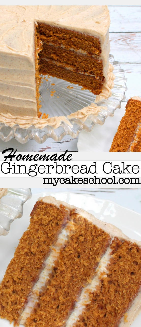 Amazing Gingerbread Cake Recipe with Spiced Cream Cheese Frosting! Recipe by MyCakeSchool.com!