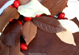 Learn how to make gorgeous Chocolate Leaves in this MyCakeSchool.com step by step cake tutorial! My Cake School Online Cake Tutorials, Cake Recipes, Cake Videos, and More!