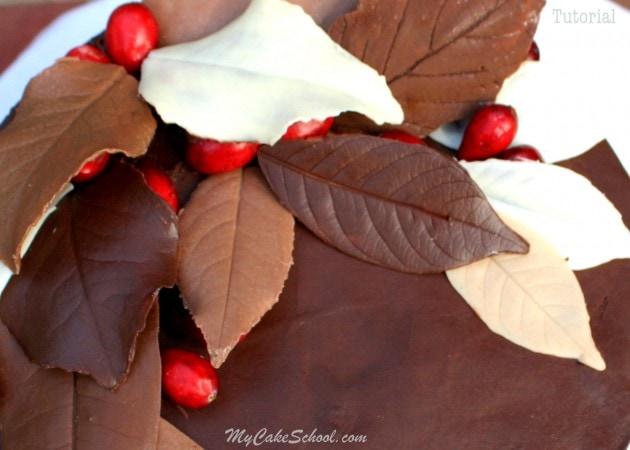 Autumn Cake- Chocolate Leaves!~Blog Tutorial