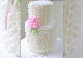 Beautiful Looped Ribbons of Buttercream- A Cake Decorating Video Tutorial by MyCakeSchool.com