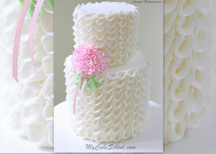 Looped Ribbons of Buttercream with Hydrangea- Video!