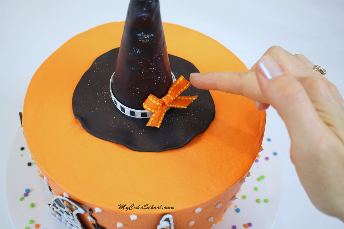Witch Hats!- A Halloween Blog tutorial by MyCakeSchool.com!