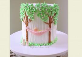 Sweet Baby in Hammock- Cake Tutorial by MyCakeSchool.com!