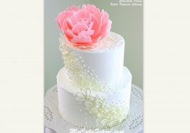 Elegant Chocolate Peony created from candy coating! Video tutorial by MyCakeSchool.com!