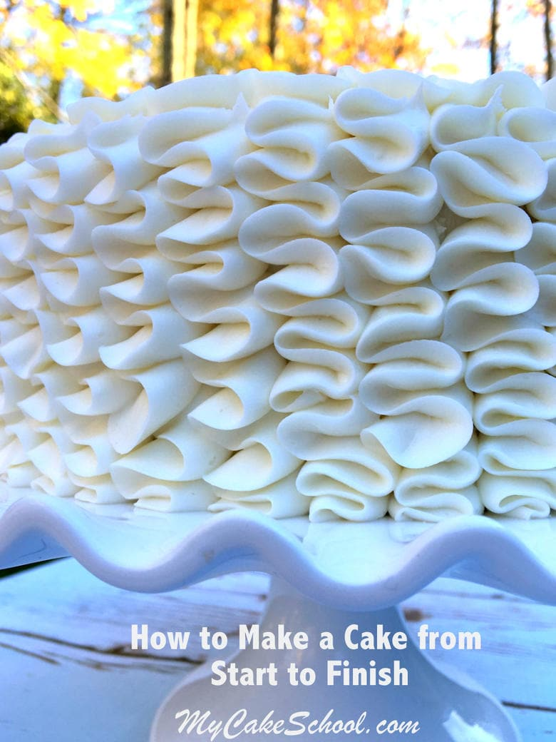 Learn how to make a cake from start to finish in this free video tutorial by MyCakeSchool.com!