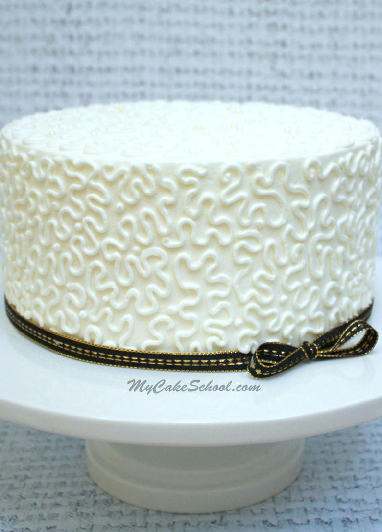 Lace Piping Cake Decorating : How to Pipe Cornelli Lace- Cake Decorating Video Tutorial ...