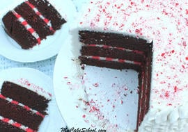 Candy Cane Cake Recipe and Free Video by My Cake School!