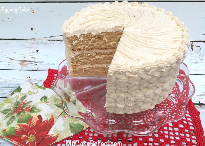 Eggnog Cake with Eggnog Buttercream- A Scratch Recipe