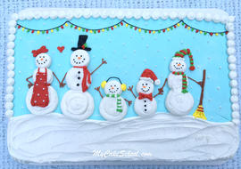 The CUTEST Snowman Cake! From My Cake School's free cake video tutorial!