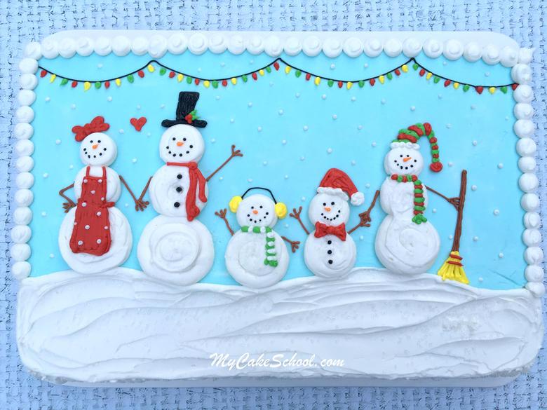 Sweet Snowman Cake~ Quick Cake Decorating Video Tutorial!