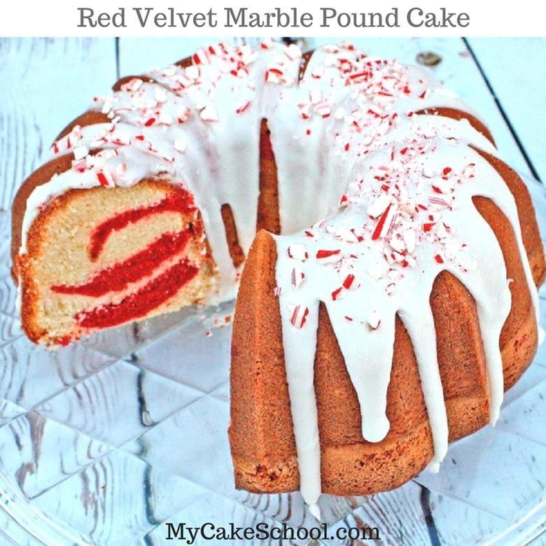 Amazing Red Velvet Marble Pound Cake recipe by MyCakeSchool.com