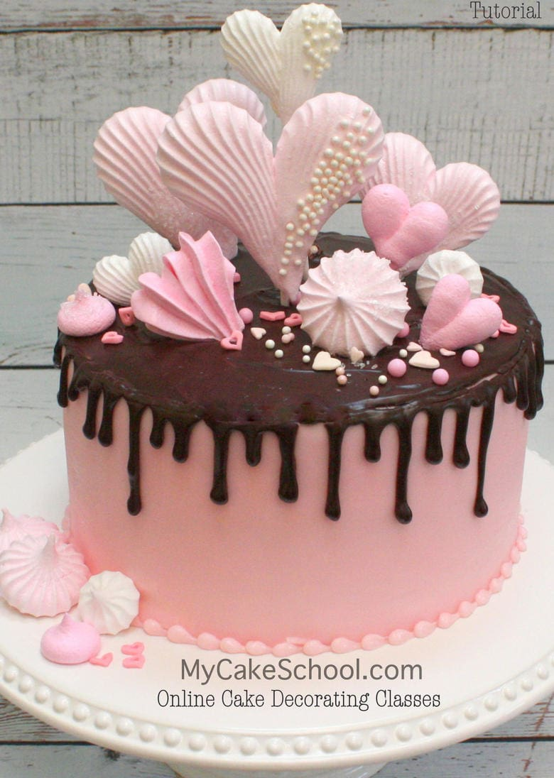White Chocolate Ganache Cake Decorating Ideas : How to Make Meringues and a Ganache Drizzle- Cake ...