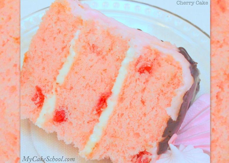 Cherry Cake Recipe from Scratch! Recipe by MyCakeSchool.com. Online cake tutorials, recipes, videos, and more!